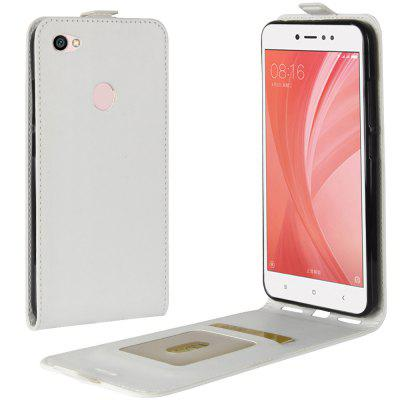 Durable Crazy Horse Pattern Up and Down Style Flip Buckle PU Leather Case for Xiaomi Redmi Note 5A