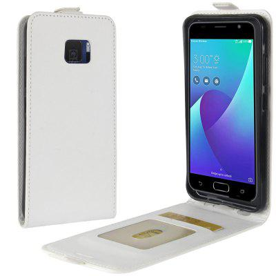 Durable Crazy Horse Pattern Up and Down Style Flip Buckle PU Leather Case for ASUS Zenfone V 5.2 inch (V520KL)