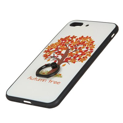 KaZiNe Azine Embossment Tpu + Pc Finger Ring Kickstand Cell Phone Case Autumn Tree for  Iphone 7Plus/8Plus brushed combo pc tpu phone shell for iphone 7 4 7 inch silver