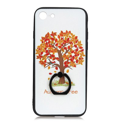KaZiNe Azine Embossment Tpu + Pc Finger Ring Kickstand Cell Phone Case Autumn for Iphone 7/8