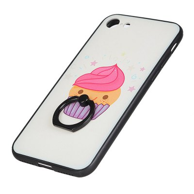 KaZiNe Azine Embossment Tpu + Pc Finger Ring Kickstand Cell Phone Smile Cake Case for iPhone 7/8 mercury goospery i jelly kickstand finger ring tpu shell for iphone 7 4 7 inch blue