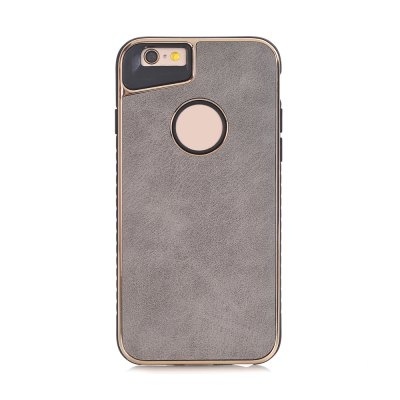 Buy GRAY Dual Layer PC +TPU Eletroplating PC Retro Crazy Horse Leather Skin Shell Cover Case for iPhone 6 / 6S for $4.69 in GearBest store