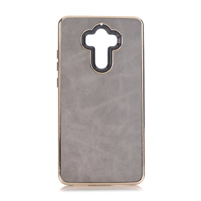 Buy GRAY Dual Layer PC +TPU Retro Crazy Horse Leather Case for HUAWEI Mate 9 for $5.35 in GearBest store