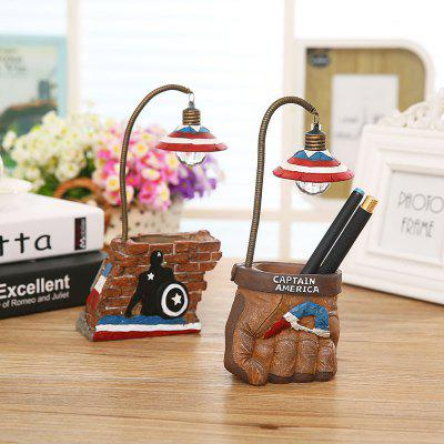 670 1PC Creative Pen Pot LED Light Animation Cartoon Night Lamp
