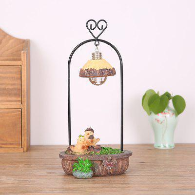 761 Garden Birds Wrought Iron Night Light