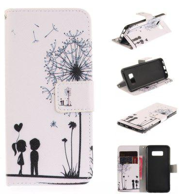 Dandelion Lovers PU+TPU Leather Wallet Case Design with Stand and Card Slots Magnetic Closure Case for Samsung Galaxy S8