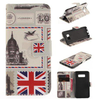 The Envelope of London PU+TPU Leather Wallet Case Design with Stand and Card Slots Magnetic Closure Case for Galaxy S8 Case