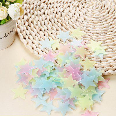 WS 100Pcs Lovely Luminous Stars Wall Stickers Home Glow In The Dark  for Kids Fluorescent DecorationWall Stickers<br>WS 100Pcs Lovely Luminous Stars Wall Stickers Home Glow In The Dark  for Kids Fluorescent Decoration<br><br>Artists: Other Artists<br>Color Scheme: Multicolor<br>Function: Decorative Wall Sticker, Clock Sticker, 3D Effect<br>Material: Plastic<br>Package Contents: 100 x Stars Wall Sticker<br>Package size (L x W x H): 12.00 x 12.00 x 3.00 cm / 4.72 x 4.72 x 1.18 inches<br>Package weight: 0.0380 kg<br>Product size (L x W x H): 3.00 x 3.00 x 3.00 cm / 1.18 x 1.18 x 1.18 inches<br>Product weight: 0.0350 kg<br>Quantity: 100<br>Sizes: Others<br>Subjects: 3D,Fashion,Romance<br>Suitable Space: Bedroom,Boys Room,Game Room,Girls Room,Kids Room,Kids Room,Living Room,Study Room / Office<br>Type: Plane Wall Sticker, 3D Wall Sticker