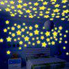 WS 100Pcs Lovely Luminous Stars Wall Stickers Home Glow In The Dark  for Kids Fluorescent Decoration - DAISY
