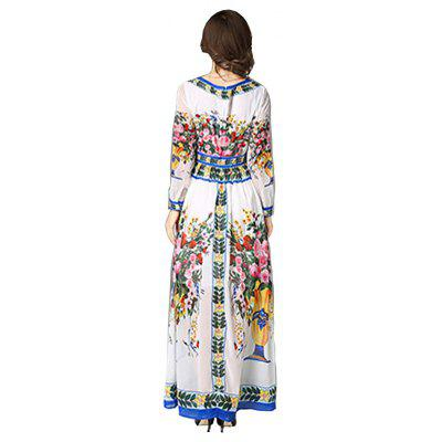 Fashion Slim Formal DressLong Sleeve Dresses<br>Fashion Slim Formal Dress<br><br>Dresses Length: Floor-Length<br>Elasticity: Nonelastic<br>Embellishment: Pattern<br>Fabric Type: Chiffon<br>Material: Chiffon<br>Neckline: Round Collar<br>Package Contents: 1 x Dress<br>Pattern Type: Print<br>Season: Spring, Fall, Winter<br>Silhouette: Ball Gown<br>Sleeve Length: Long Sleeves<br>Style: Fashion<br>Weight: 0.3400kg<br>With Belt: No