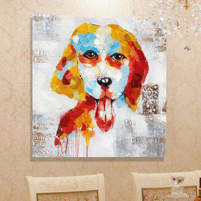 XiangYunChengFeng Hand Painted Abstract Dog Decoration Canvas Oil Painting