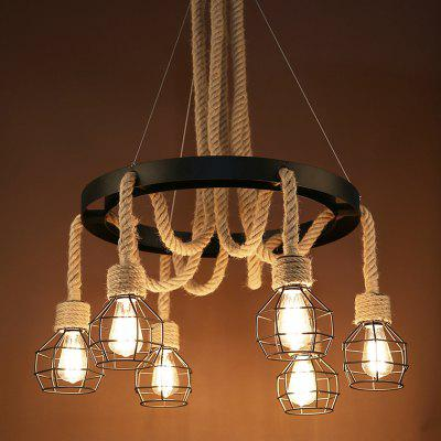Industry Style Hemp Ancient Creative Personality Pendant Light