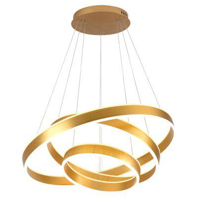 Contracted and Contemporary Sitting Room Droplight Acrylic LED Golden Circle Ring Hotel Restaurant Mall Office Lighting