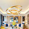 Contracted and Contemporary Sitting Room Droplight Acrylic LED Golden Circle Ring Hotel Restaurant Mall Office Lighting - MARIGOLD