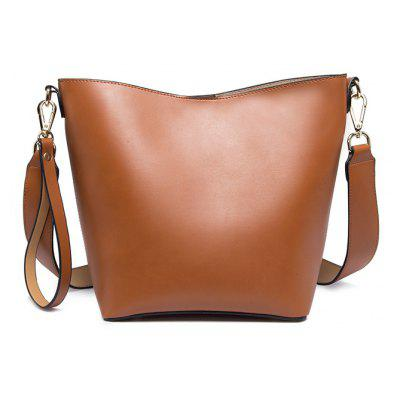 Portable Bucket Bag  All-Match Crossbody Bag Simple Female Bag