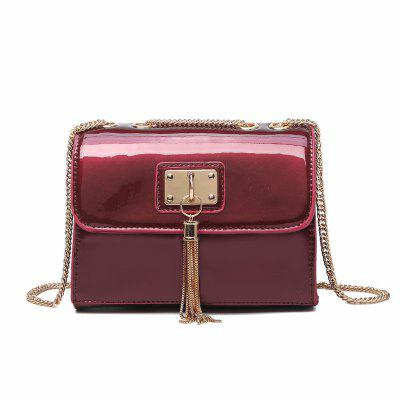 Fashionable Female Small Package Tassel Mini Bag Chain with One-Shoulder