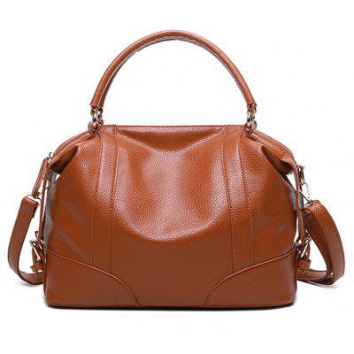 Soft Leather Handbag Simple One-Shoulder Bag with Large Volume and Large Capacity