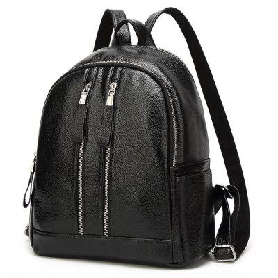 Fashion Backpack PU Package for StudentsBackpacks<br>Fashion Backpack PU Package for Students<br><br>Capacity: 11 - 20L<br>Color: Black<br>For: Casual<br>Gender: For Women<br>Material: PU Leather<br>Package Contents: 1 x Backpack<br>Package size (L x W x H): 29.00 x 11.00 x 34.00 cm / 11.42 x 4.33 x 13.39 inches<br>Package weight: 0.5000 kg<br>Strap Length: 30cm<br>Style: Leisure, Sport<br>Type: Backpack
