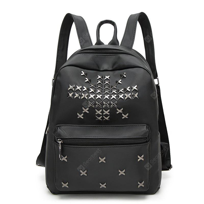 Waterproof Nylon Rivet Double Bag of Spring and Autumn New Backpack