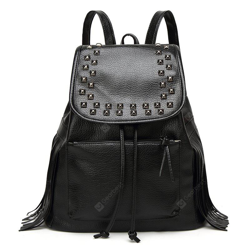 The New Women's  One-shouldered Han Edition Trend Casual Fashion Student Tassel Backpack
