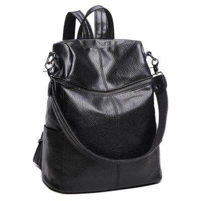 New Style Double Shoulder of Han Edition Fashion Zipper Multi-function Ladies' Bag