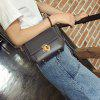 Simple Fashion Casual PU Leather Shoulder Bag - BLACK