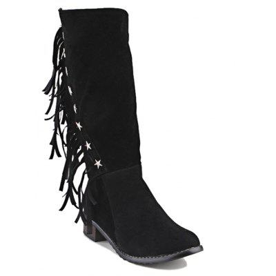 Buy BLACK 7 Women's Boots Cowboy Western Boots Riding Boots Fashion Boots Leatherette Winter Casual Dress for $51.97 in GearBest store