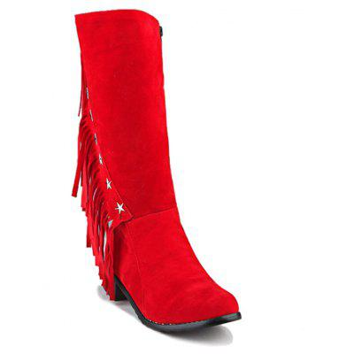 Buy RED 8 Women's Boots Cowboy Western Boots Riding Boots Fashion Boots Leatherette Winter Casual Dress for $51.97 in GearBest store