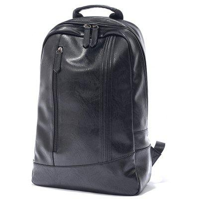 Portable Trendy Men PU Backpack