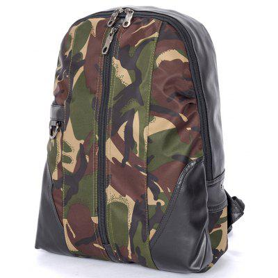 Trendy Fashionable Camouflage Men Backpack