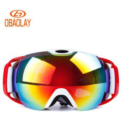 OBAOLAY H012 Unisx Panoramic Double Deck Anti Fog Ski Goggle