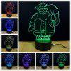 Shining TD044 Creative Christmas 3D LED  Lamp - COLORAT