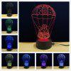 Shining TD086 Creative Christmas 3D LED Lamp - COLORFUL