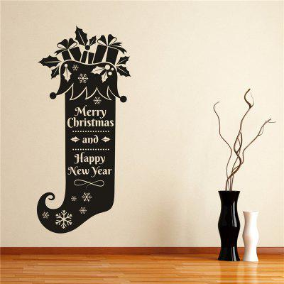 Buy Christmas Socks Wall Stickers Decorations, BLACK, Home & Garden, Home Decors, Wall Art, Wall Stickers for $5.77 in GearBest store