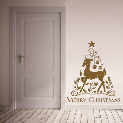 Christmas Elk Removable Wall Stickers