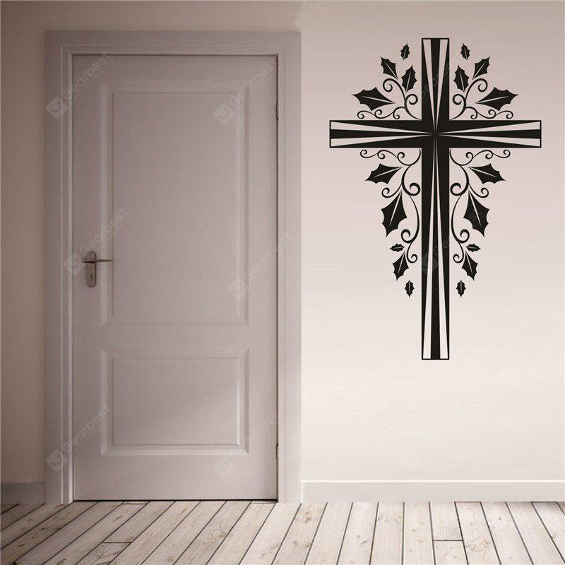 Cross Christmas Decoration  Removable Wall Stickers
