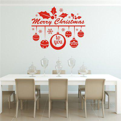 English Christmas Decoration  Removable Wall Stickers