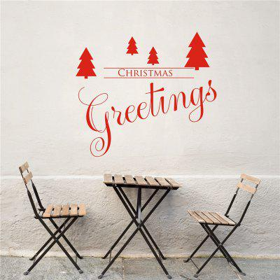 Greetings Christmas Decoration Removable Wall Stickers
