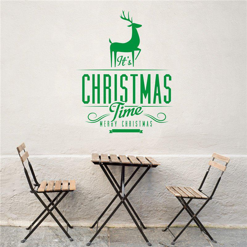 Christmas Decoration  Elk Removable Wall Stickers