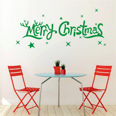 Merry Christmas Removable Wall Stickers