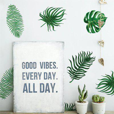 24pcs of Palm Leaf Wall Stickers for Home Decoration