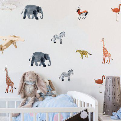 36pcs of Cartoon Animals Wall Stickers for Home Decoration