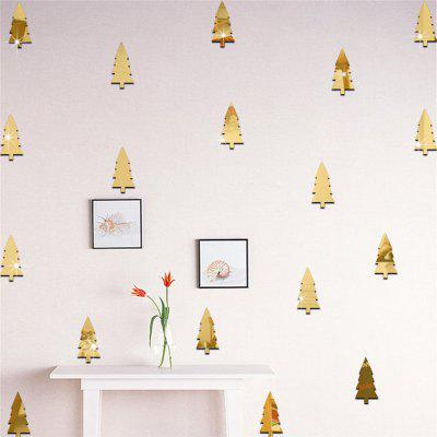 18pcs Christmas Tree Mirrow Wall Stickers for Home Decoration