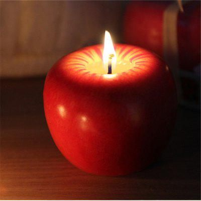 Gearbest 6CM Christmas Apple Candle For Christmas Decorations