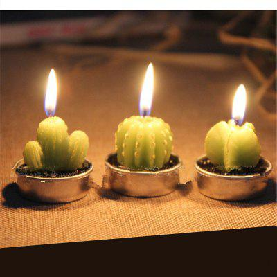 Creative 6PCS Candle Lovely Cactus Polypotted Plant Scented Candles