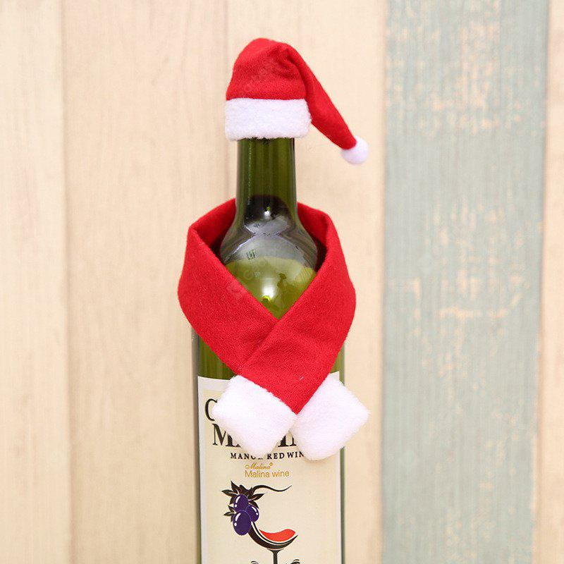 Cute Small Scarf and Hat for  Christmas Bottle Decoration