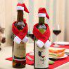 Cute Small Scarf and Hat for  Christmas Bottle Decoration - RED