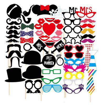 58pcs Funny Take Pictures Props Christmas Festival Event Party Decor