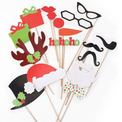 17pcs Funny Take Pictures Photo Booth Props Christmas Party Decor