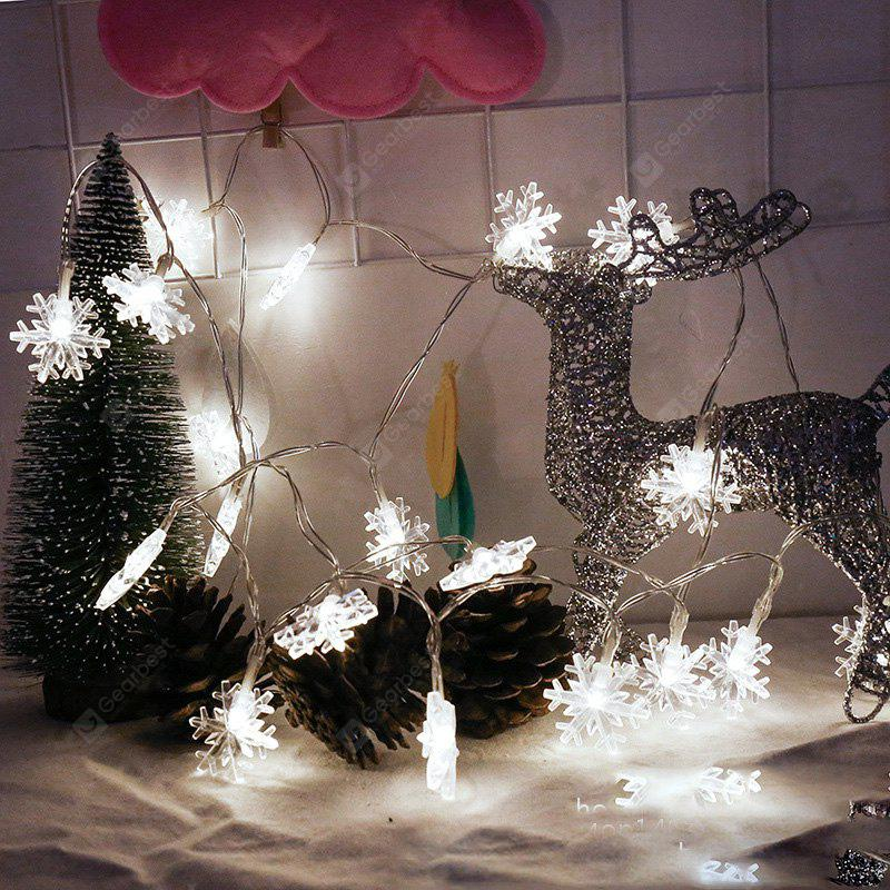 2M 20-LED Snowflake Lights Battery Powered String Lights for Christmas Decoration